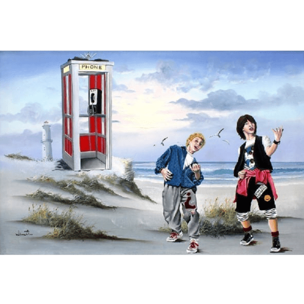 BILL AND TEDS EXCELLENT TRIP TO THE BEACH giclee nws