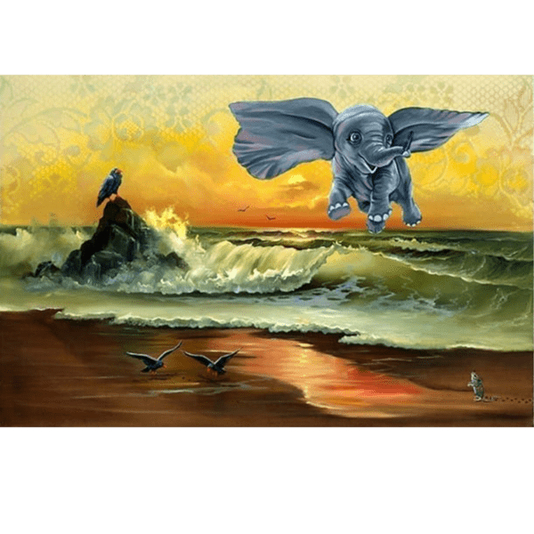 Dumbo dont just flySOAR giclee nws