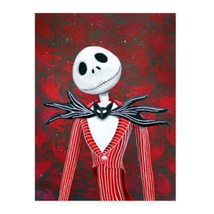 Holiday Jack, Jack skellington art, a nightmare before christmas, skull art, pumpkin king, tim burton, disney art, signed art print, lowbrow art, skull art, halloween art, christmas painting