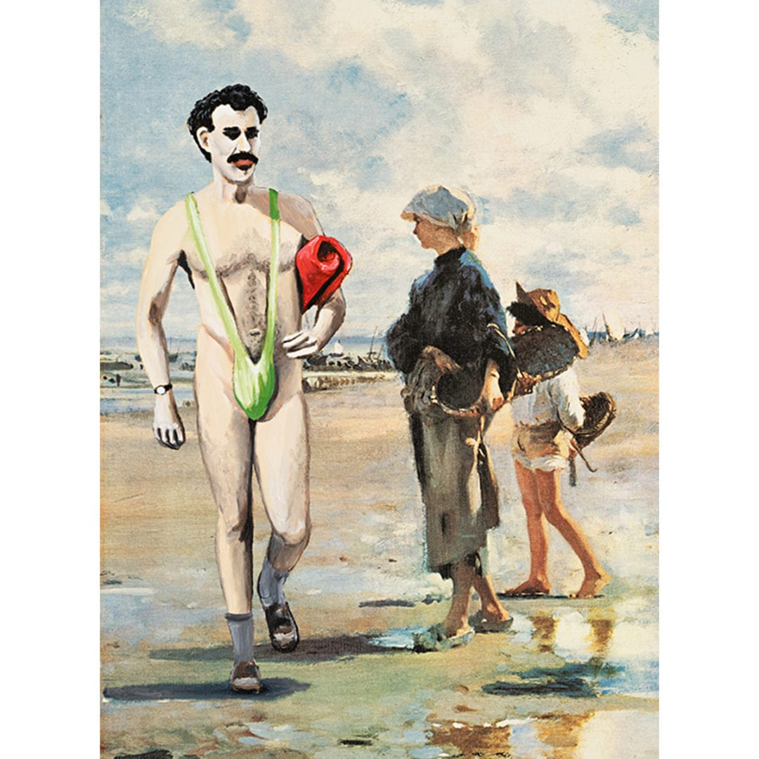 borat at the beach great success GICLEE detail nwsjpg scaled