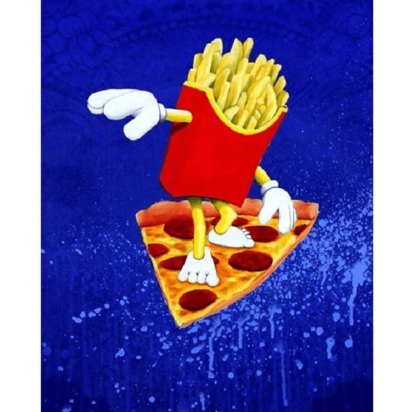 frys vs. pizza giclee nws