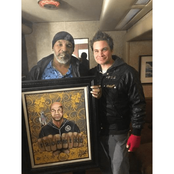 iron mike tyson painting with Mike
