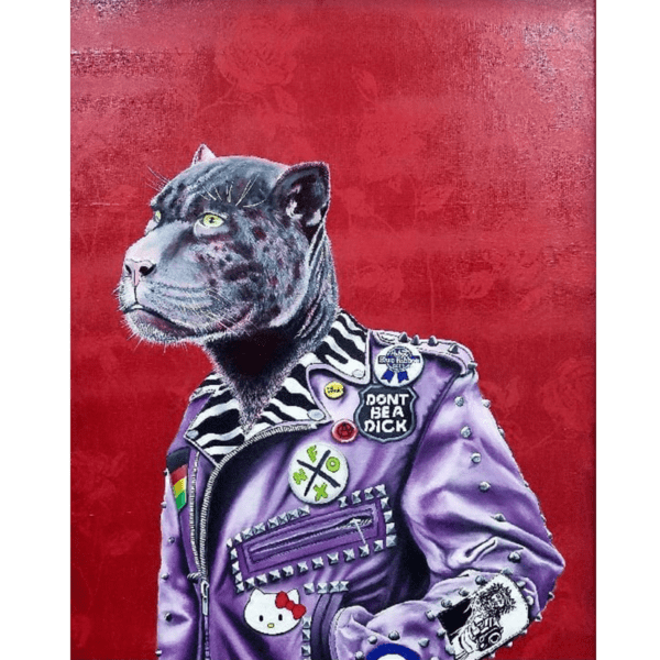 punk panther giclee nws
